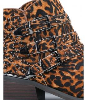 Zapatillas - Piel - Negro - Antideslizantes