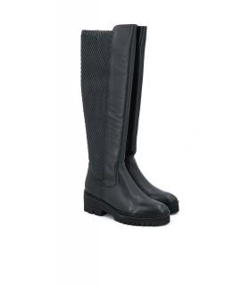 Zapato - Tweed - Tacón - Piel - Burdeos