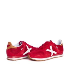 Zapato - Velcro - Piel - Burdeos