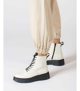 Sneaker - Cordones - Piel - Oro