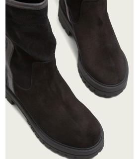 Sneaker - cordones - Textil - Negro