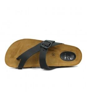 Sandalia - Tiras - Elásticos - Textil/Piel - Oro