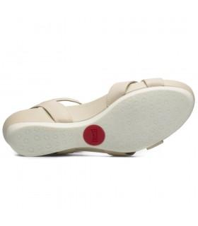 Sandalia - Piel - Velcro - Moka - Bio